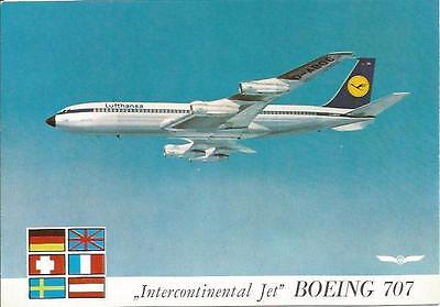 Cp Avion Boeing 707 Intercontinental Jet Lufhtansa