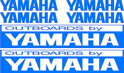 Yamaha Outboards Fishing Boat Sticker Decal Marine Set of 6