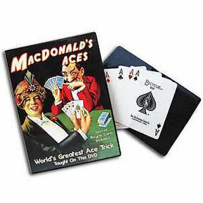 MacDonald's Aces DVD - Includes Wallet and Cards - Magic Tricks - New