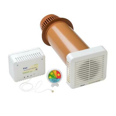 Kair Single Room Heat Recovery Condensation Ventilation Fan Khrv150