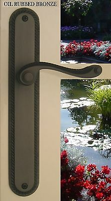 Privacy Door Lever Handles Hardware Florentine Privacy Right Hand Oil Rub Bronze