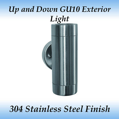 2 Light Up and Down Exterior Wall Pillar Light in 304 Stainless Steel