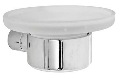 Roper Rhodes Insight Frosted Glass Soap Dish & Holder Chrome Finish Bath Shower