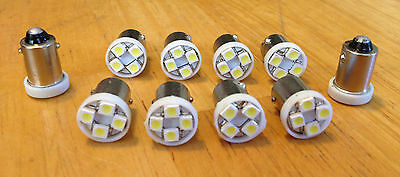 10 Mazda White *BRIGHT* 12V LED Instrument Panel BA9S 1815 Light Bulb 1895 NOS