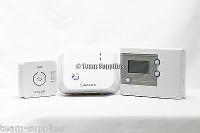 Salus Wireless Programmable Thermostat Electronic Central Heating Control 'new'