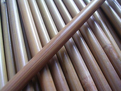 6 Bamboo Arrow shafts 84cm spined and weighted Tonkin Bamboo