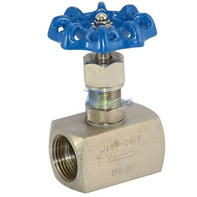 "1"" DN25 Stainless Steel 304 High pressure Needle Valve Female Thread J13W 160P"