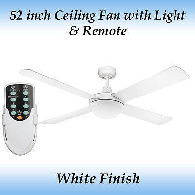 Genesis 4 Blade 52 inch Ceiling Fan with Light and Remote