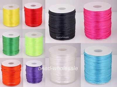 10m Nylon Chinese Knot Beading Jewelry Cord Thread 2mm For Diy Bracelet/Necklace