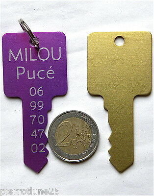 Medaille Gravee Chien Cle Clef Or Gravure Offerte