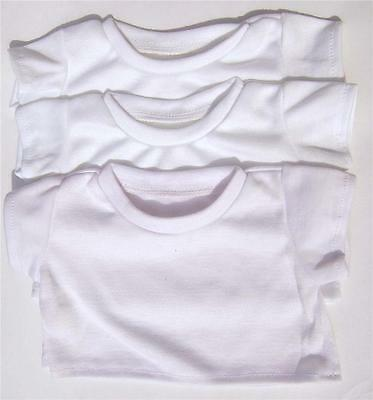 "White T-Shirts Party Packs (Opt Fabric Pens) Fits 16"" Teddies & Build Your  Bear"