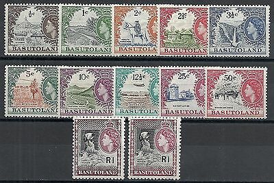 Basutoland 1961 SG 69-79  79a included  MLH  VF