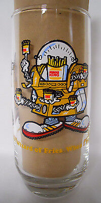 VINTAGE! 1979 Burger King Collector Glass-Wizard of Fries