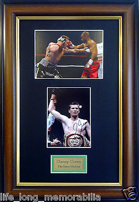 """Danny Green """"the Green Machine"""" Signed And Framed"""
