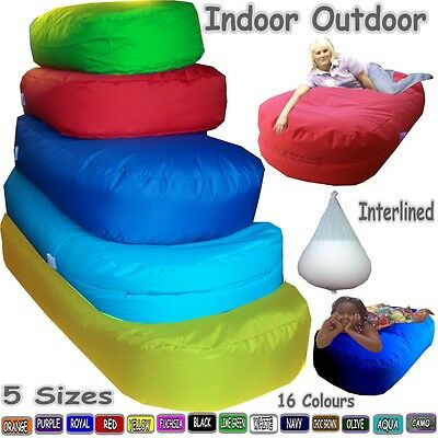 Bean Bed Sofa in/outdoor Kids Adults Pet Lounger Ottoman Couch Interlined Filled