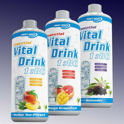 Best Body Nutrition Essential Vital Drink 1:80 - 1000ml mit Vitamin B6 , B1
