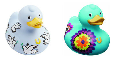"BUD 'Luxury Duck' Cute Rubber Ducky w/Pattern 4""x3.5""x2.5"" -- Choose Design!"