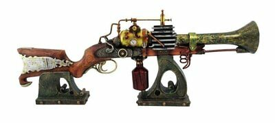 "Steampunk Rifle Annialator MK2 Prop Figurine 29"" Long With Stand Decorative"