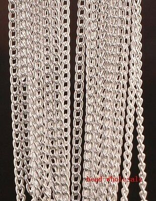 free shipping silver 5m Curb Aluminum Open Link Chain Lot For Necklace Bracelet