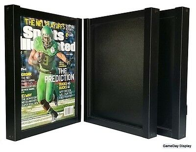 Magazine Sports Illustrated Display Frame Case Black Shadow Box Lot Of 3