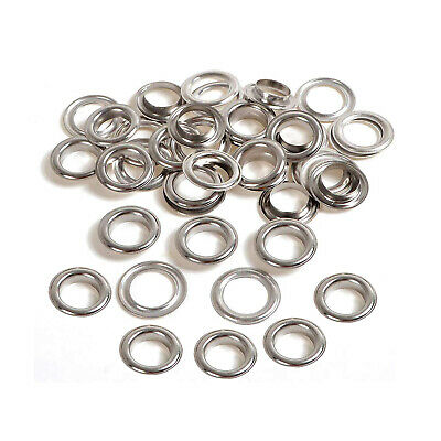 50 or 100 x 14mm Silver Eyelets with Washers - for Banners - UK Seller