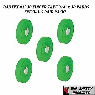 """BANTEX COHESIVE GAUZE SAFETY FINGER TAPE GREEN 3/4"""" X 30 Yd. #1230 (5 ROLL PACK)"""