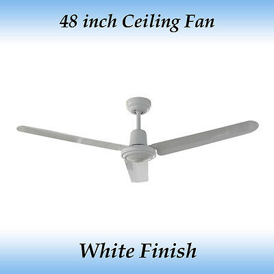 Sparky 48 inch (1200mm) 3 Blade White Aluminum Ceiling Fan