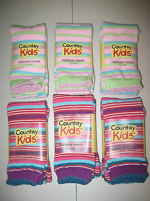 Cotton Funky Stripe Capri Footless Tights COUNTRY KIDS Sizes Fits Ages 1-8