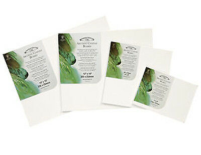 "6 x Winsor & Newton Canvas Boards / Panels - 12"" x 10"""