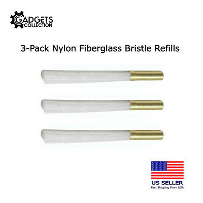 Pkg of 3 Ultra Thin Nylon Fiberglass Scratch Brush Refills US FAST FREE SHIPPER