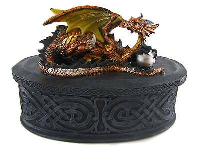 Unique GOTHIC DRAGON TRINKET JEWELLERY BOX - Decorative Ornament - NEW