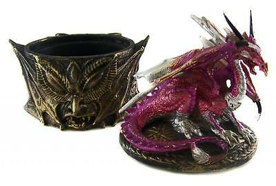 Ornate GOTHIC DRAGON TRINKET JEWELLERY BOX - Decorative Ornament - NEW