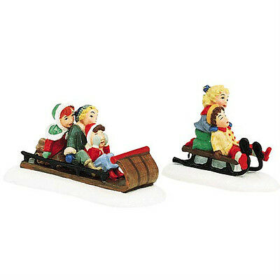 Dept 56 Seasons Bay FUN IN THE SNOW SET/2 NEW!