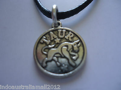 Taurus Zodiac Sign Pendant Astrology Horoscope Silver Pewter jewelry Necklace