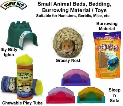 Super Pet small animal bed burrowing material bedding toy hamster gerbil mice