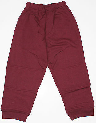 Kids Fleece Track Pant Size 8 Burgundy Maroon School or Play
