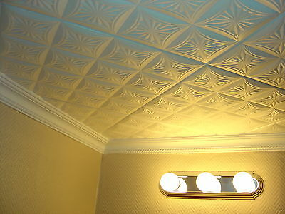 Beautiful Texture Ceiling Tiles EASY GLUE UP R40W