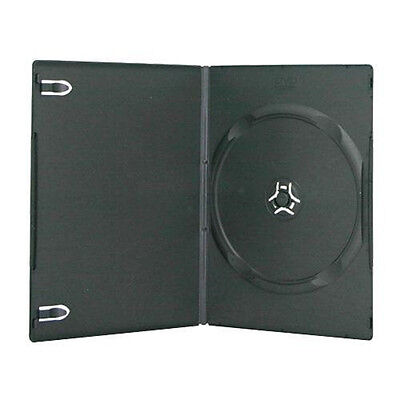 100 New Black Single Slim CD DVD Case 7mm on Sales by UPS ground Not Media Mail