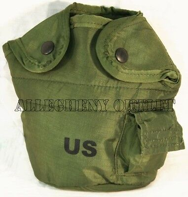 GENUINE US Military Issue 1 QT QUART CANTEEN COVER 1Qt Pouch w/ Alice Clips NEW