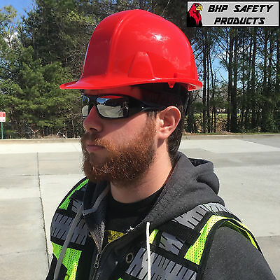 Pyramex Red Safety Cap Style Hard Hat 4 Point Ratchet Hp14120 Construction