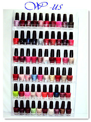Nail Polish Wall Rack Acrylic hold up to 60 bottles / OPI, ESSIE, CHINA GLAZE...