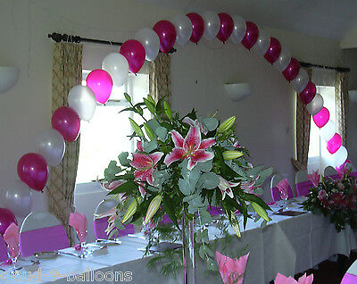 Top Table / Buffet Table Large Helium Balloon Arch DIY Kit for Wedding or Party