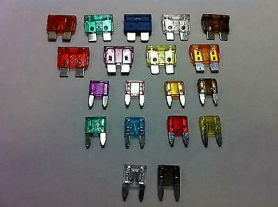 Motor Home Caravan Replacement Electrical 12V Blade Spade Fuses Selection.