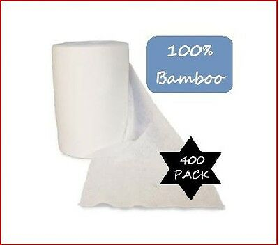 400 Bamboo Flushable Nappy Liners - Baby Wipes - Organic Biodegradable Insert