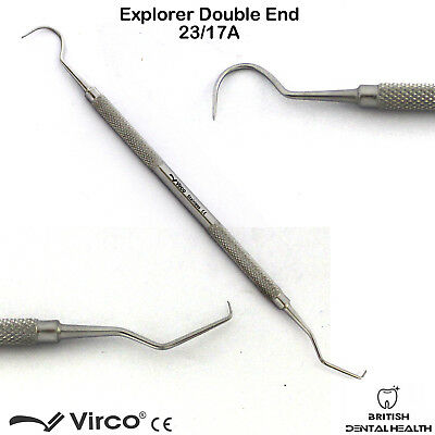 Endodontic Probe Explorer 23/17A Sharp Tips Dental Examination Oral Hygiene Tool