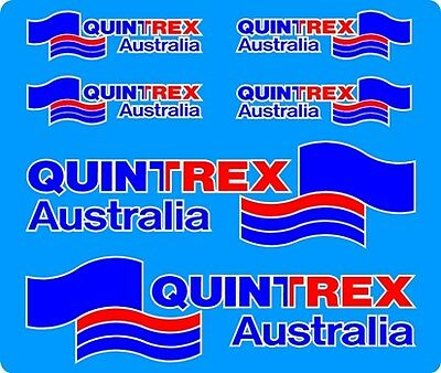 Quintrex Aussie Flag Side /& Back Fishing Boat Mirrored Sticker Decal Set of 3