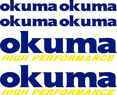 okuma, 2 Colour Set, Fishing Boat Sticker Decal Marine Set of 6