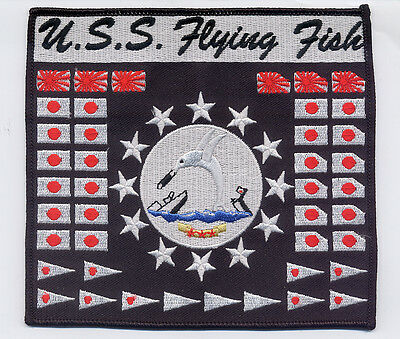 USS FLYING FISH SS 229 - WWII Battleflag BC Patch Cat No B614