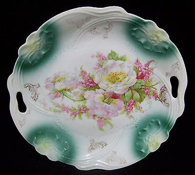 Beautiful Vintage Ps Germany Cake Plate With Handles