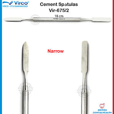 Dental Cement Spatula Wax Amalgam Mixing Spatula Narrow German Stainless Stel Ce